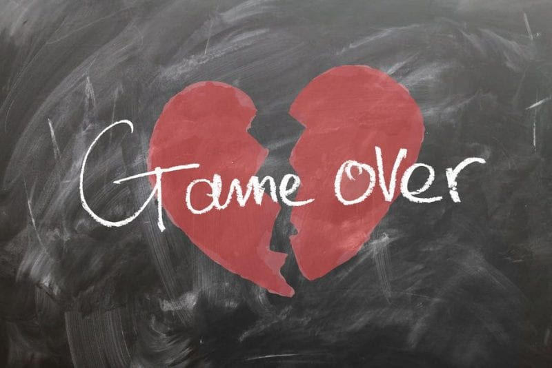 broken hearted - game over