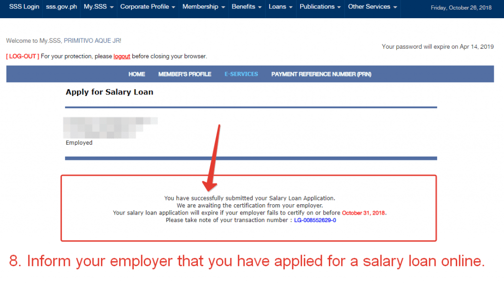 SSS Salary Loan Application Online