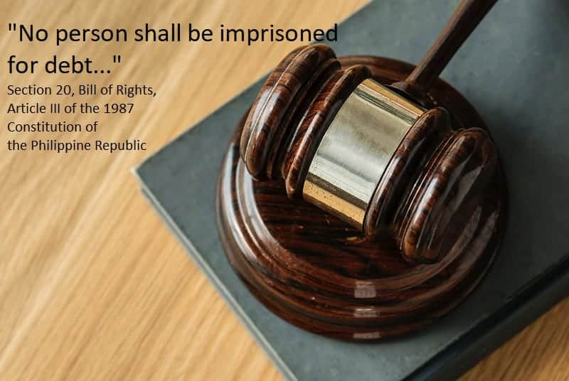 No person shall be imprisoned for debt